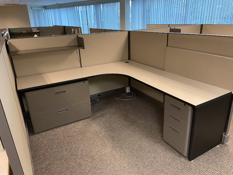 used AO2 office cubicles Portland Commercial Furniture