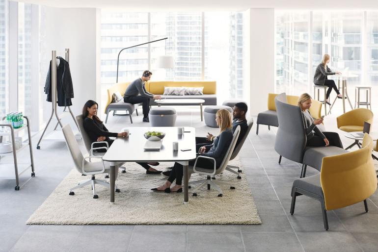 Teknion Zones Lounge seating open office floorpan
