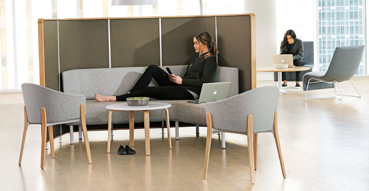 Teknion zones office furniture lounge seating